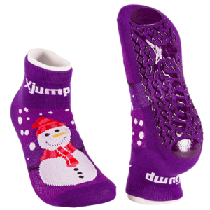 Snowman Christmas trampoline-novelty-socks
