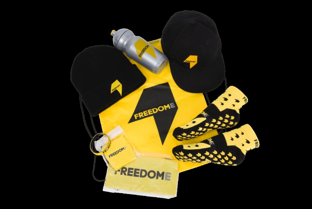 Freedome retail merchandise range