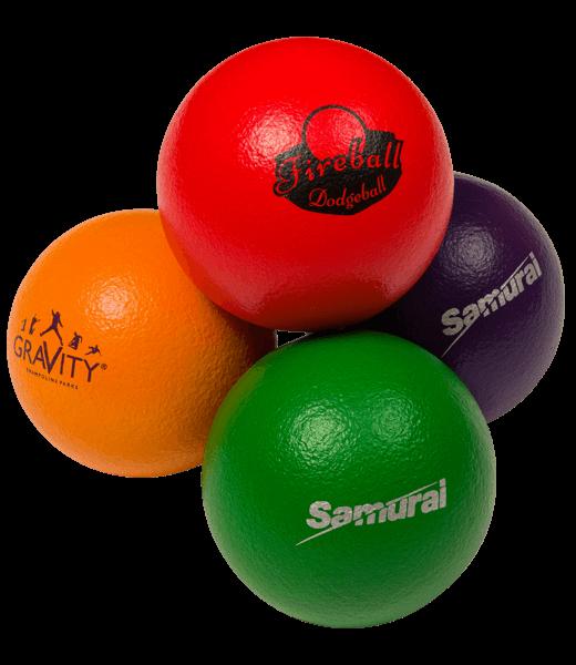 Trampoline-dodgeball portrait
