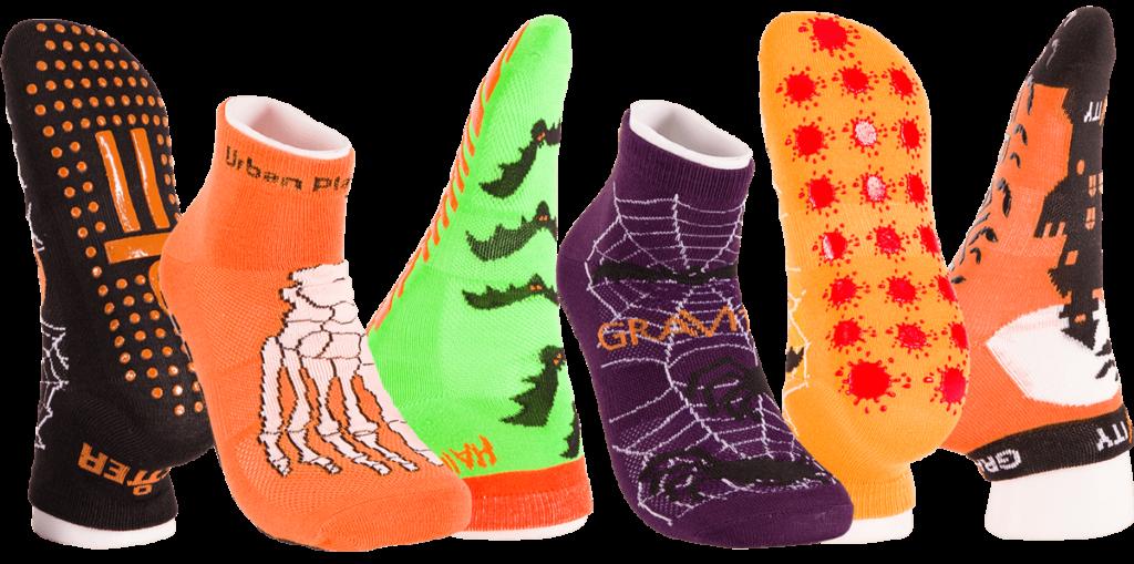 Novelty Trampoline Grip Socks Halloween